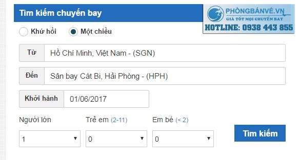 Đặt vé máy bay đi Hải Phòng Online