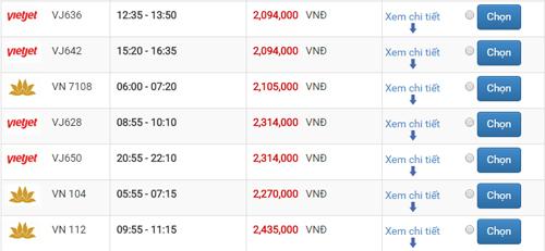 Giá vé máy bay Sài Gòn Đà Nẵng
