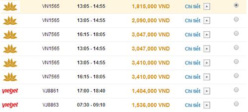 Giá vé máy bay Hà Nội Đà Lạt