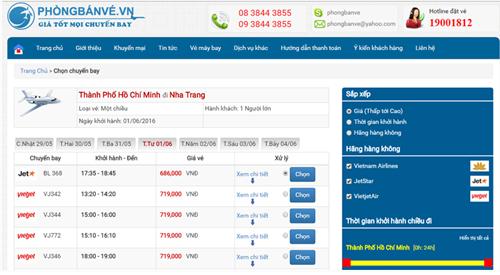 Đặt mua vé máy bay đi Nha Trang